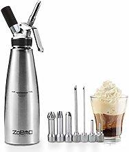 ZOEMO Whipped Cream Dispenser Stainless Steel