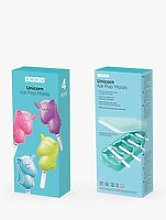 Zoku Unicorn 4 Ice Lolly Mould, Blue