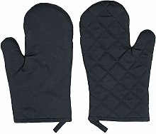 ZOLLNER Oven Gloves, 100% Cotton, 18x25 cm, black