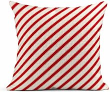 Zome Lag Throw Pillow Cover Square Red