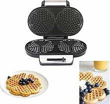 ZOMINMMB Heart Waffle Maker-Double head Non-Stick