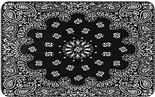 ZOMOY carpet bath mat,rug,Black Background With