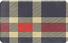 ZOMOY carpet bath mat,rug,Checkered Pattern With
