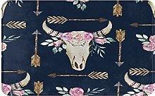 ZOMOY carpet bath mat,rug,Cow Print Cow Hide