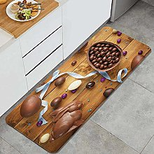 ZOMOY Kitchen Rug,Delicious Chocolate with Eggs