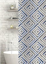 Zona Polyester Shower Curtain Blue/Grey