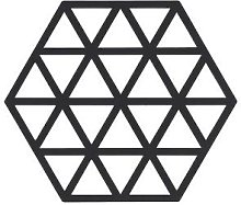 Zone - Black Triangles Table Protector - black |
