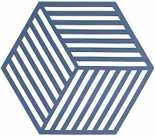 Zone Denmark Hexagon Silicone Trivet – Denim Blue