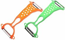 Zonfer 1pc 2-head Vegetables Peeler, Potato Carrot