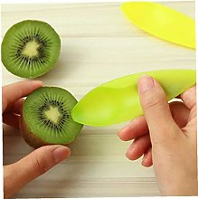 Zonfer 3pcs Kiwi Plastic Spoon Fruit Knife Slicer