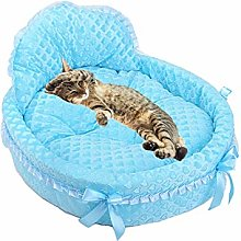 Zongha Lace Cat Bed Oval Pet Bed Small Cat Bed Pet