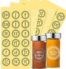 Zonon 144 Pieces Herb and Spice Jar Labels