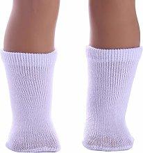 Zonster 1 Pair Cheap White Doll Socks Dolls Ankle