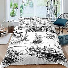 Zooseso® 3-Piece Bedding Black and white sketch
