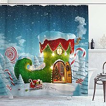 ZORMIEY Shower Curtain,Amazing Fairy House at
