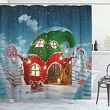 ZORMIEY Shower Curtain,Amazing Fairy House