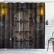 ZORMIEY Shower Curtain,Halloween Set Spooky