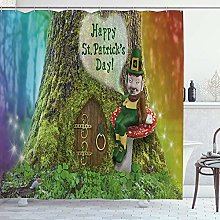ZORMIEY Shower Curtain,St. Patrick's Day Red