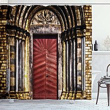 ZORMIEY Shower Curtain,Vintage Gate Gothic House