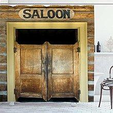 ZORMIEY Shower Curtain,Wild West Saloon Door