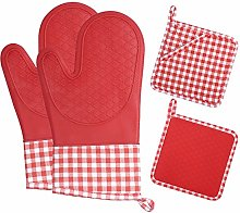 ZORR Oven Gloves Silicone with Soft Cotton Lining,