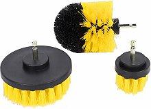 Zoternen 3PCS Plastic Round Power Scrubber Brush