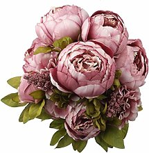 ZOULME 1 Pack Artificial Peony Bouquet,