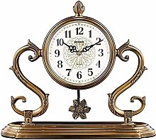 ZouYongKang Pendulum Fireplace Mantel Clock Retro