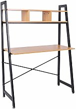 Zoyo Industrial Style Ladder Desk with Shelves