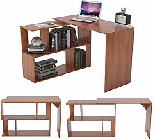 Zoyo Wooden L Shaped Corner Computer Desk for