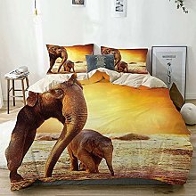 Zozun Duvet Cover Set Beige,Zoo Mother Baby