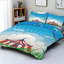 Zozun Duvet Cover Set,Travelling Circus Tent with
