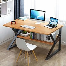 ZPEE Modern K-shaped Computer Desk With Storage