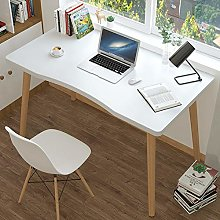 ZPEE Solid Wood Legs Computer Desk For Home