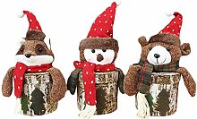 ZPFDM 3 Pcs Christmas Santa Claus Candy Cookie Jar