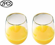 ZPFDM Lead Free Glasses Egg-shaped, Hot Water Cup,