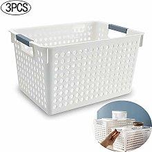 ZPFDM Plastic Storage Baskets, Small Woven