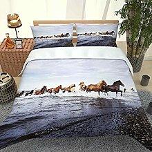 ZPOEQW Double Bedding Duvet Set 200X200Cm 3 Pcs