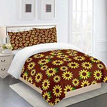 ZPOEQW Single Bedding Duvet Set 135X200cm 3 Pcs