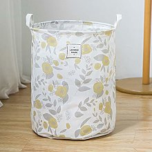 ZQ&QY Cotton Linen Printing Storage Basket With