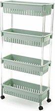 ZQCM Storage Trolley, Cart Bathroom Kitchen