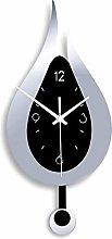 ZQD Kitchen Wall Clock with Pendulum,20.4 inchs
