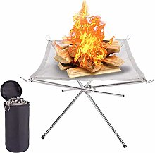 ZQDL Campfire rack,Portable Outdoor Fire Pit
