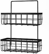 ZQJSC Bathroom rack Hanging Iron Bathroom Shelf