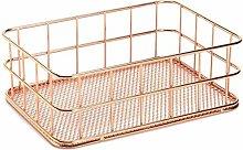 ZQJSC Bathroom rack Storage Basket metal Wire