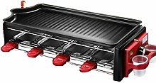 ZQQFR Raclette Grills Electric Barbecue Grill