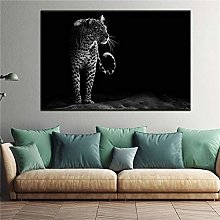 zqyjhkou Black and white leopard/Print wild