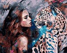 zqyjhkou Lady and Leopard/Print wild leopard