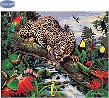 zqyjhkou Leopard and bird/Print wild leopard