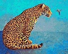 zqyjhkou Leopard graffiti/Print wild leopard